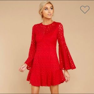 Dresses & Skirts - NEW! Feel The Romance Lace Red Dress!